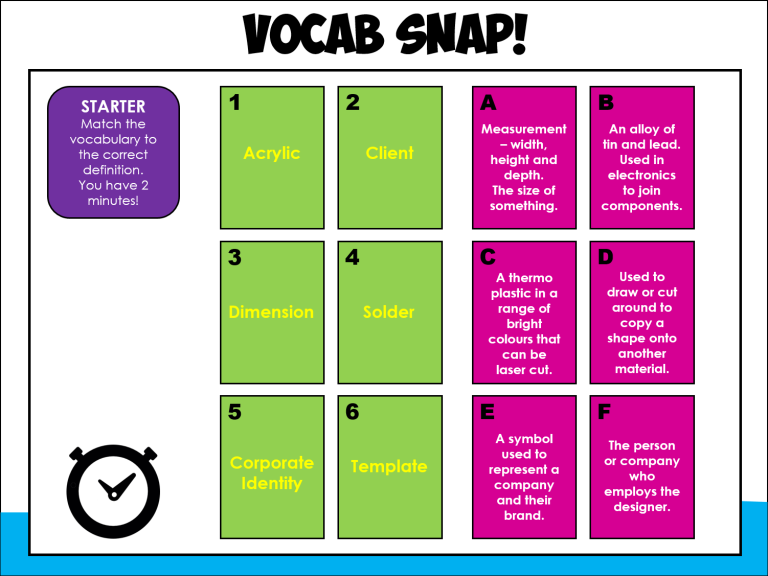 vocab snap